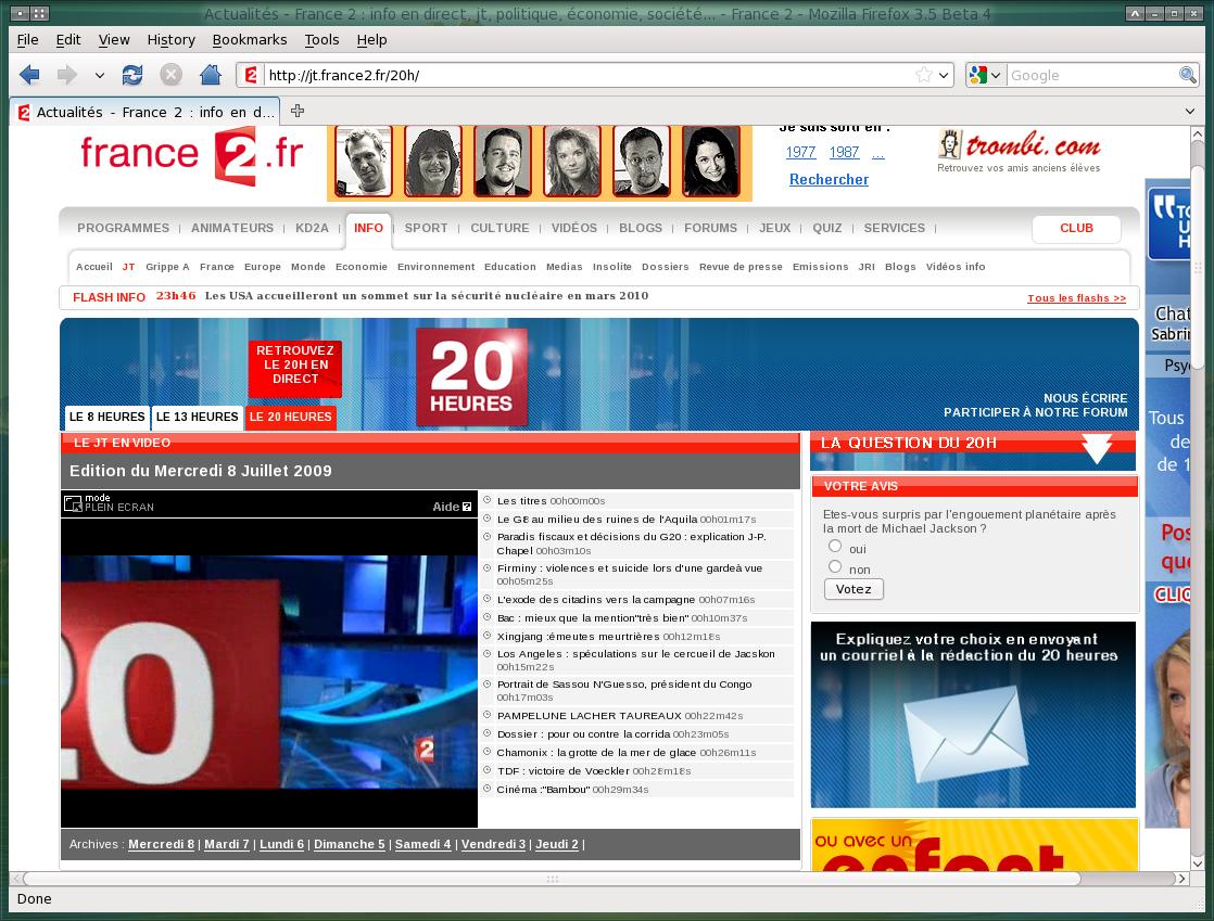 le journal télévisé avec VLC Media Player
